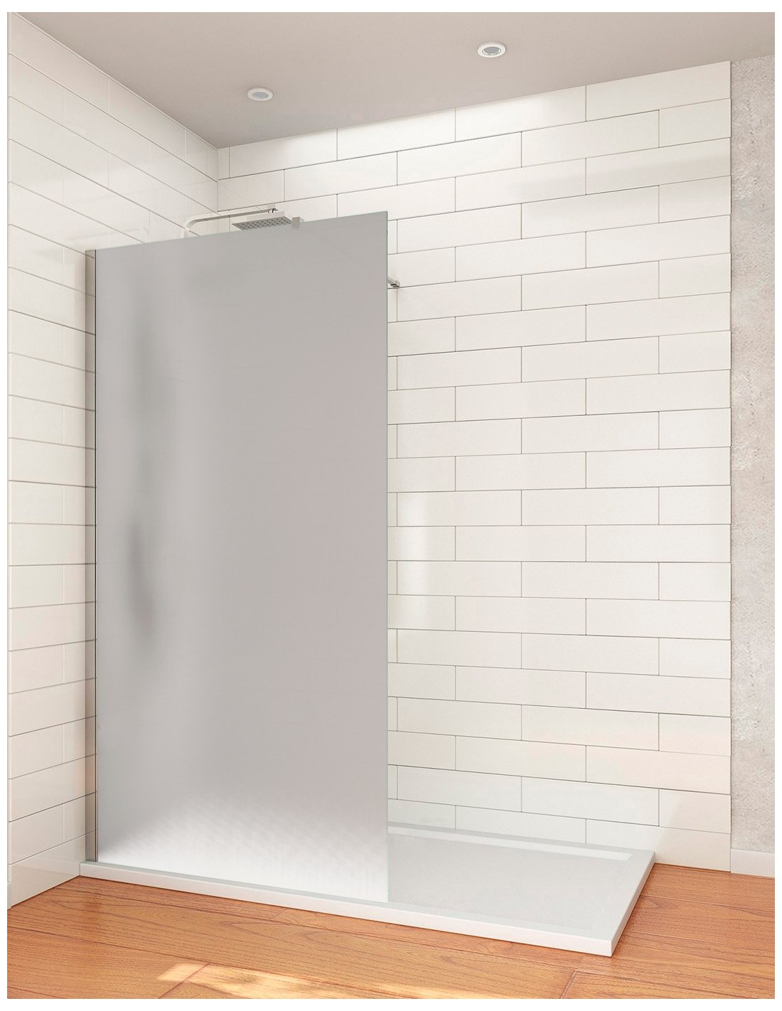 Mampara de ducha cristal fijo Walk-in